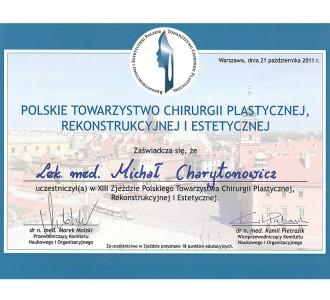 certyfikat dr Michał Charytonowicz